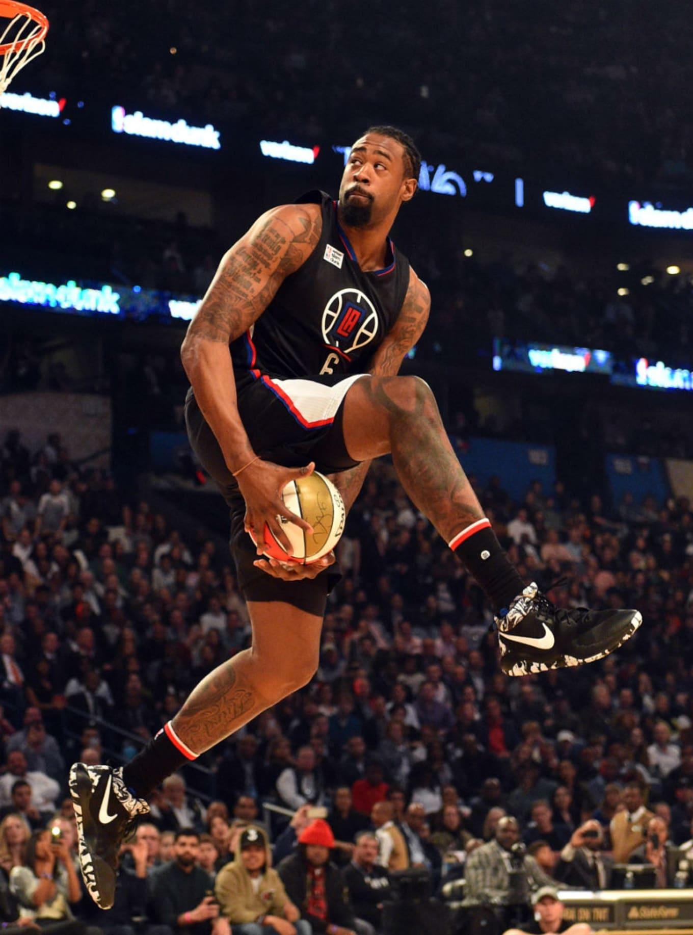 8f9bb2699f07 DeAndre Jordan. Image via Bob Donnan for USA Today Sports. Shoe  Nike Zoom  Rev 2017
