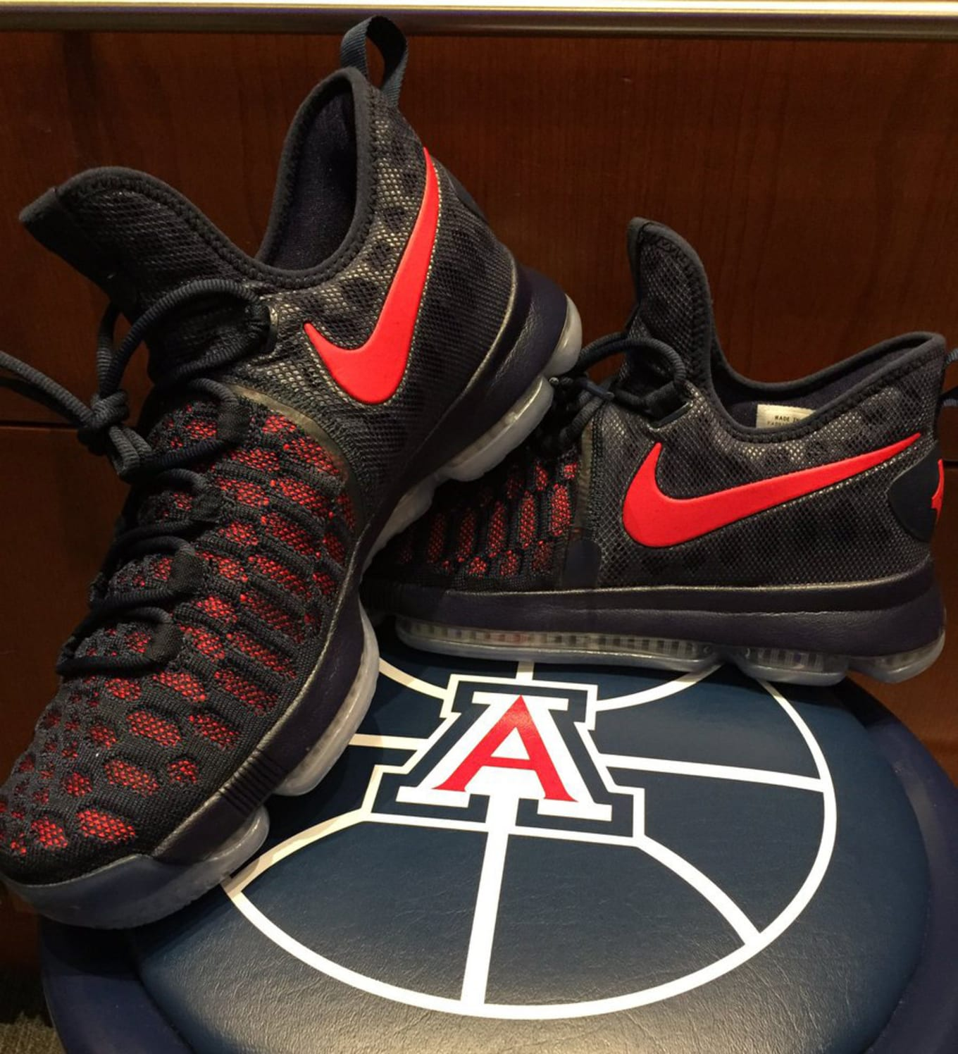 0d412c0b6f455 Player exclusive Nike KD 9s for the Wildcats.