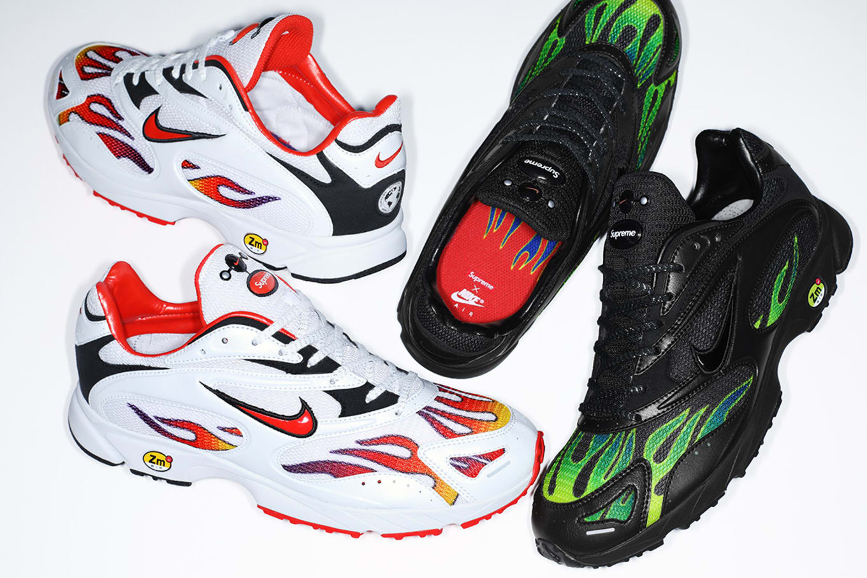 aa5951a4298c Supreme x Nike Zoom Streak Spectrum Plus AQ1279-100 AQ1279-001 ...
