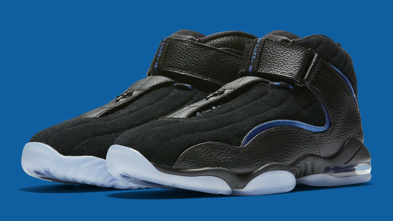 ae31207810d5 Nike Air Penny 4 Retro Black Blue 2017 Release Date