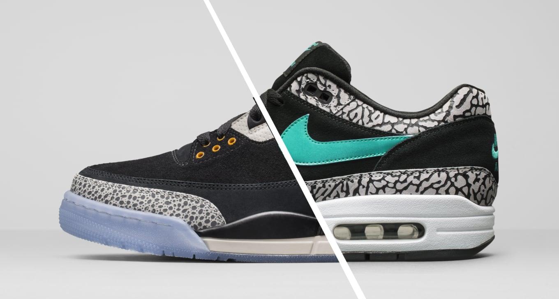 221ee60f25c5 Nike Air Max 1 x Air Jordan 3 Retro x ATMOS Pack