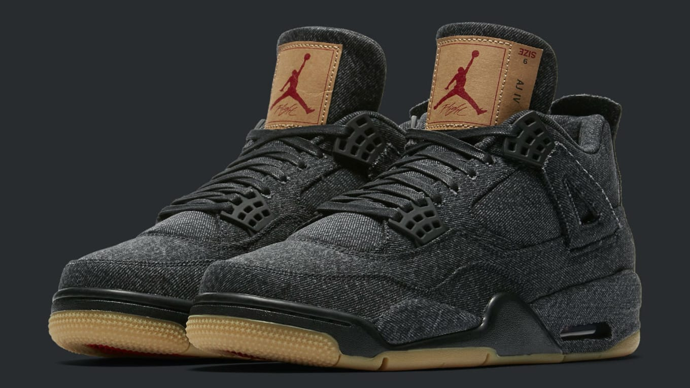 new concept 3f563 53db5 Levi's x Air Jordan 4 Black Release Date AO2571-001 | Sole ...
