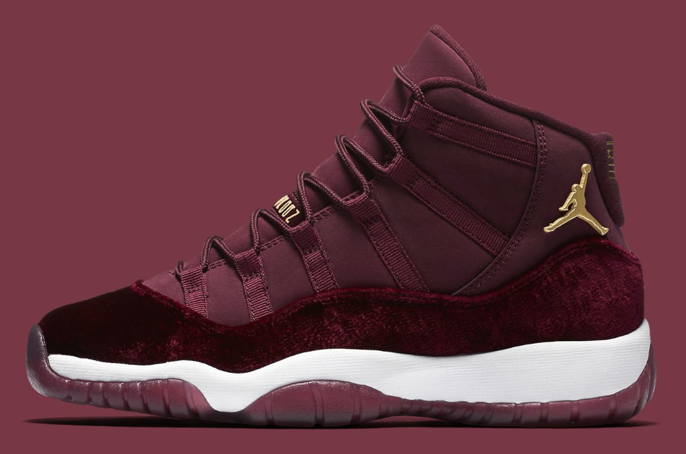 a087224cef35 Air Jordan 11 GG Red Velvet Heiress Release Date 852625-650