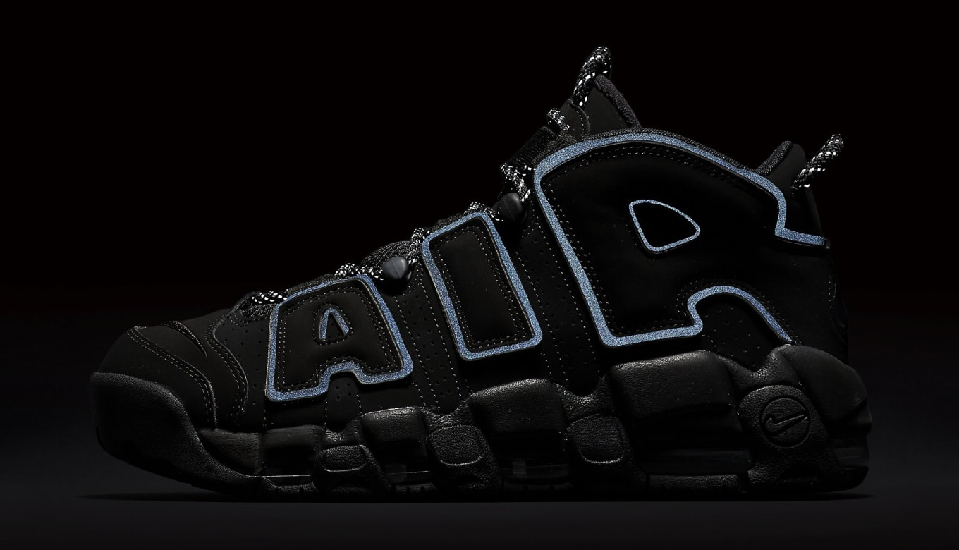28043bab1c1 Nike Air More Uptempo Black/Reflective 414962-004 Restock | Sole ...