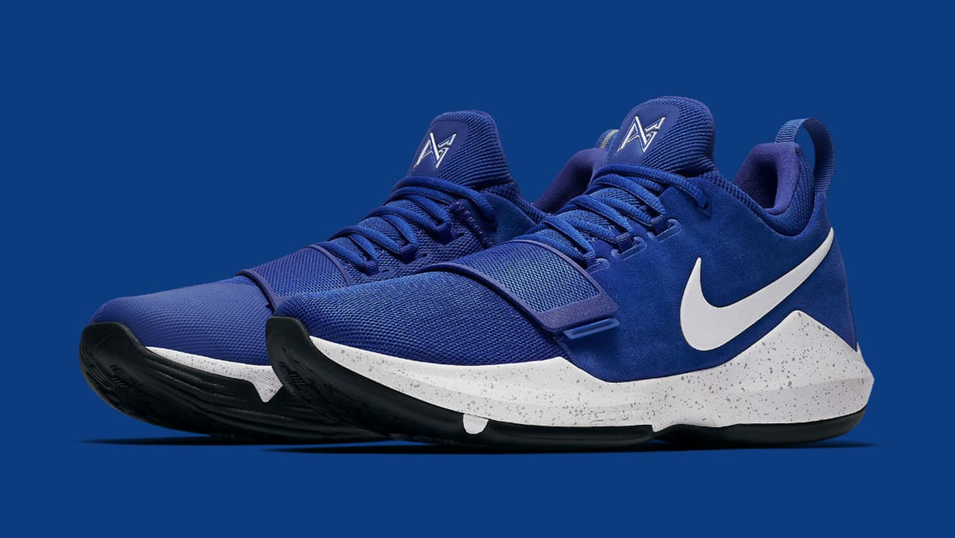 d9c8b83279c1 Nike Made Blue Suede Shoes for Paul George. A new colorway of the PG1.