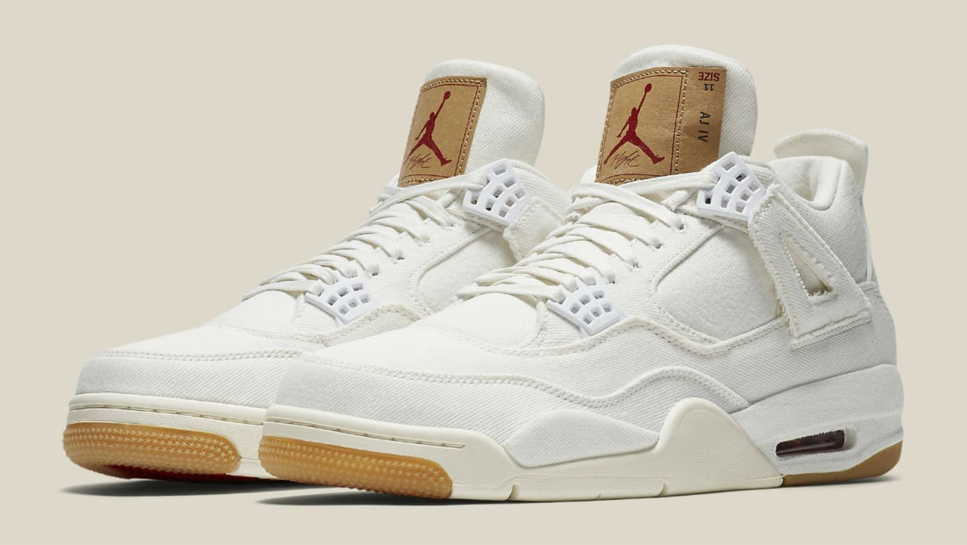 a6db0ea02e02 White Levi s x Air Jordan 4s Get a Confirmed Release Date. It s official.