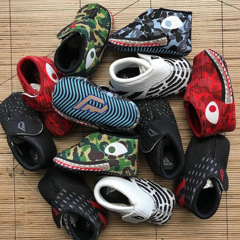 76ba7da9595 Dame Lillard s Newborn Son Already Has Bape x Adidas Sneakers. Baby ...