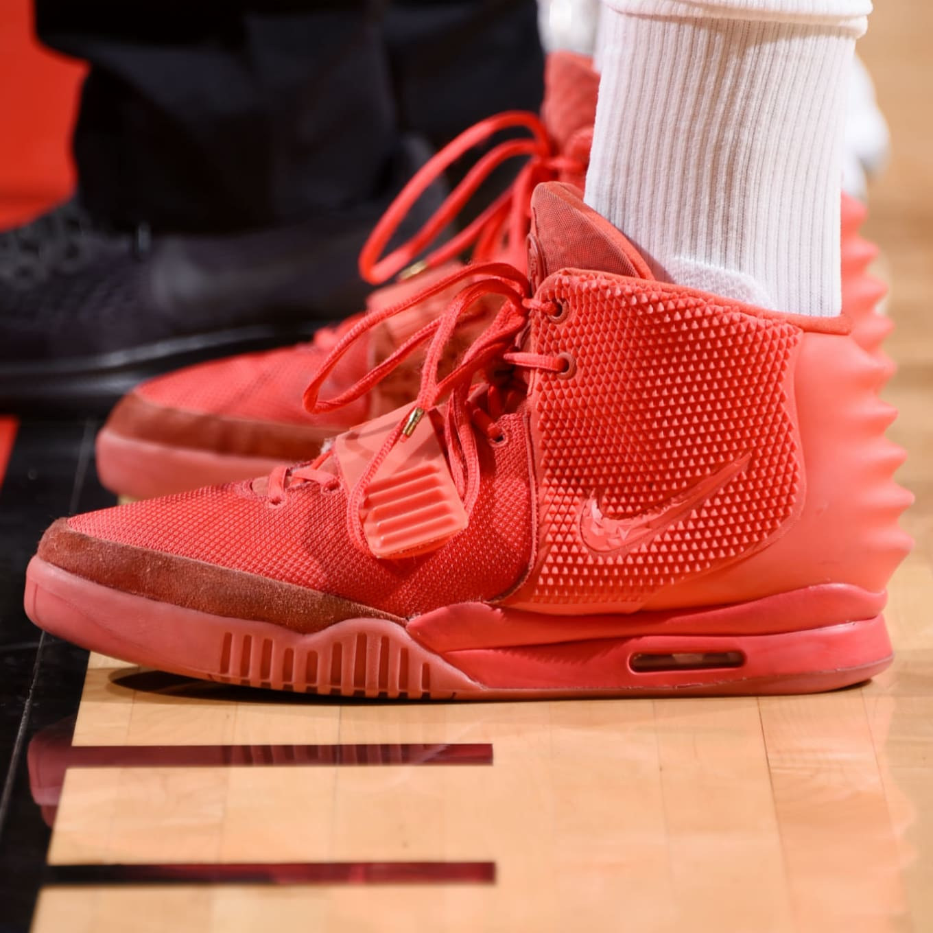 830d13e442aa6 P.J. Tucker Nike Air Yeezy 2 Red October