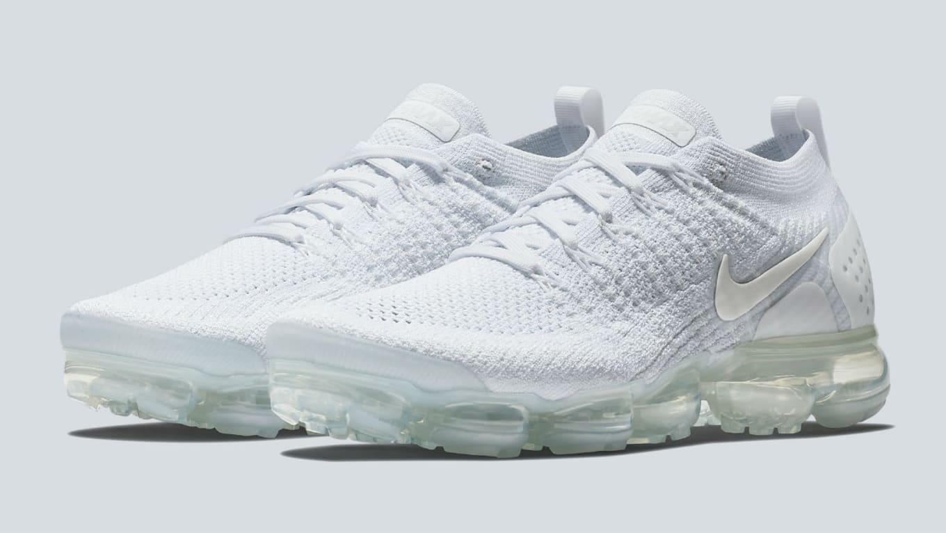 hot sale online f7490 658bb Nike Air VaporMax Flyknit 2 White White-Pure Platinum-Metallic Silver
