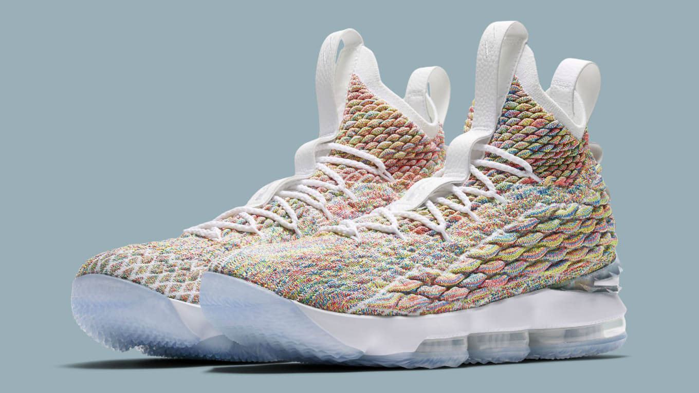 official photos 5f36a 1761b Nike LeBron 15 'Fruity Pebbles' Release Date 897648-900 ...