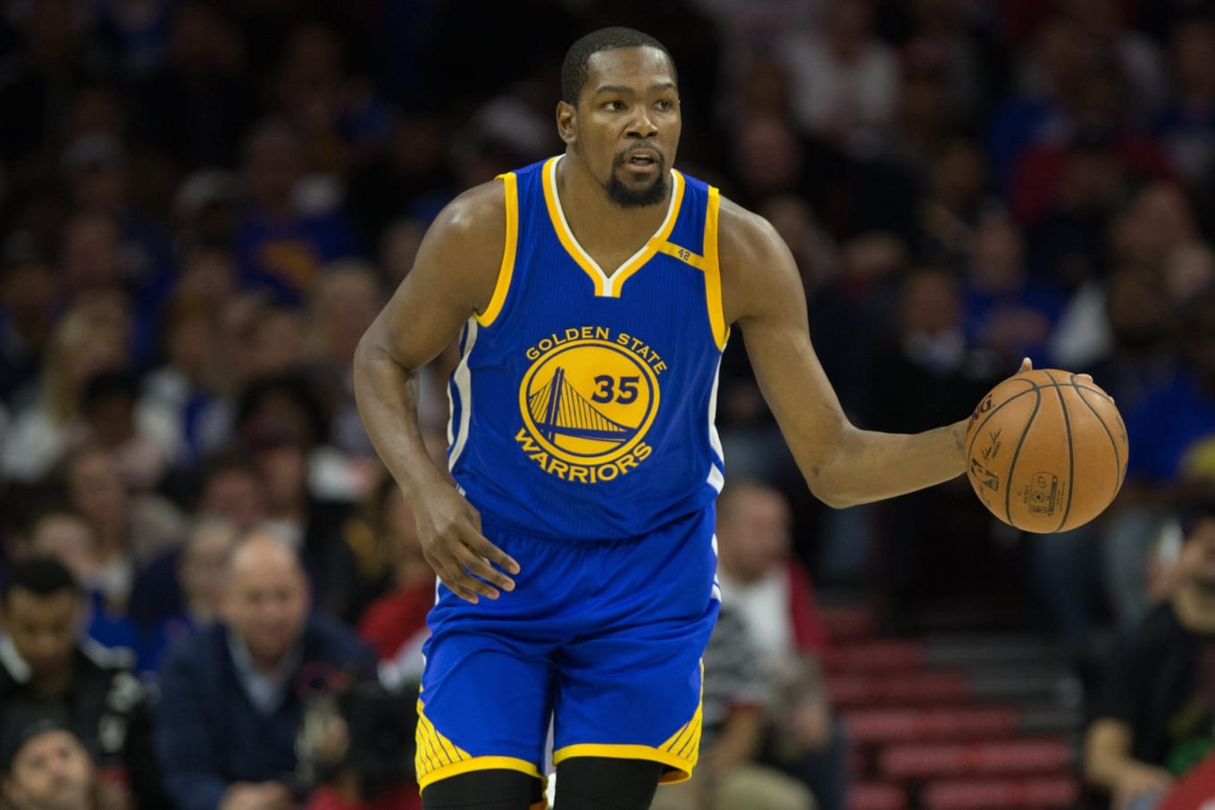 Nike KD. Image via Bill Streicher-USA TODAY Sports. Golden State Warriors  All-Star forward Kevin Durant will debut ... b85ab1302