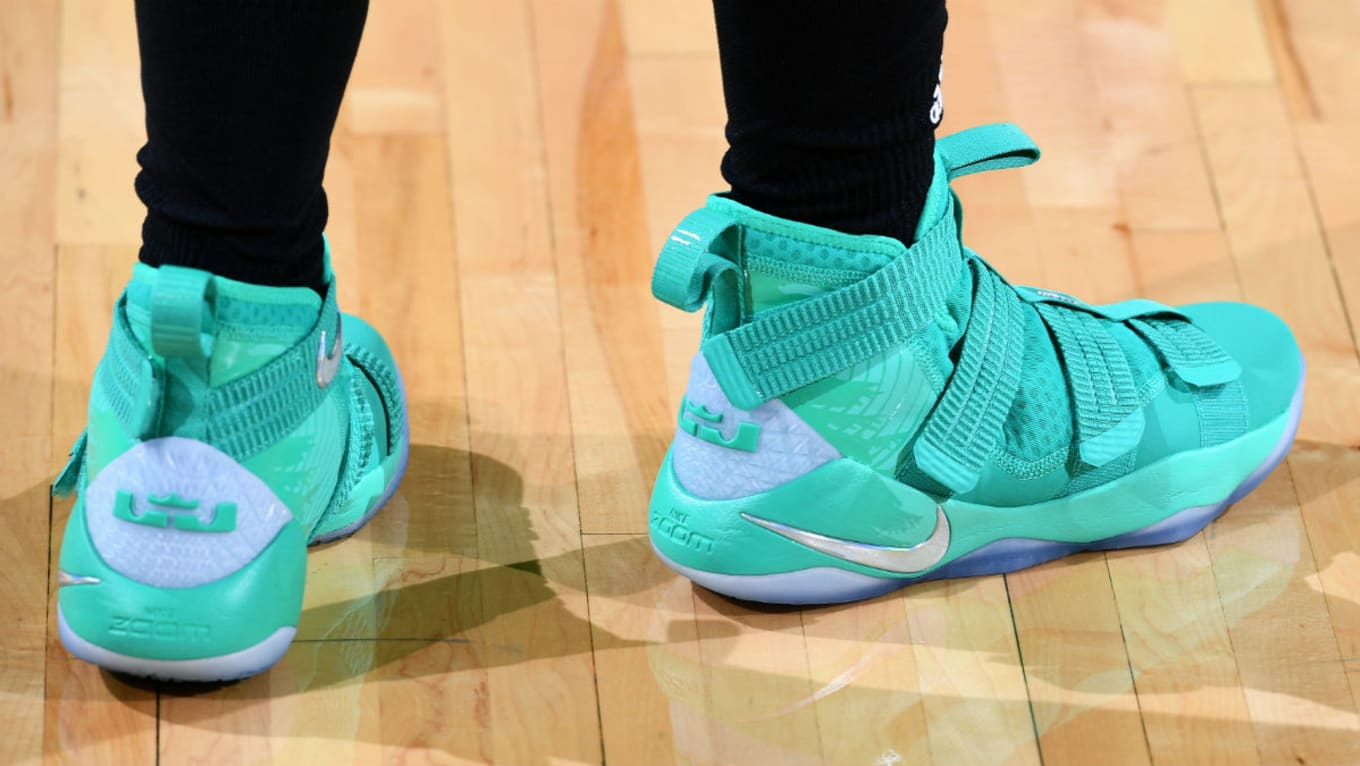 big sale 1d35c 95292  SoleWatch  Sugar Rodgers Wears Nike LeBron Soldier 11 PE in the WNBA All- Star Game