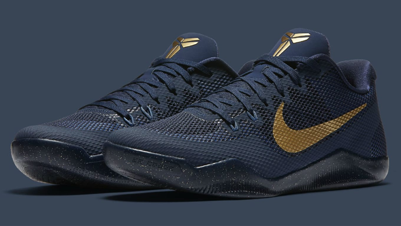 7236891c755a Nike Kobe 11 EM Philippines Deep Royal Fountain Blue-Metallic Gold ...