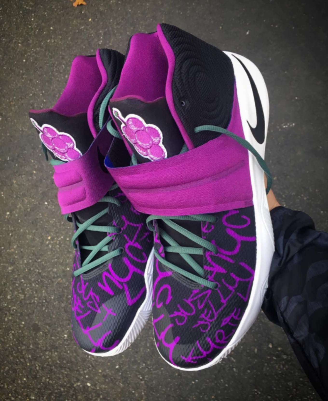 huge selection of a2e66 8d86d Kyrie Irving Gets Grape Jelly-Flavored Sneakers. A custom pair from Mache.