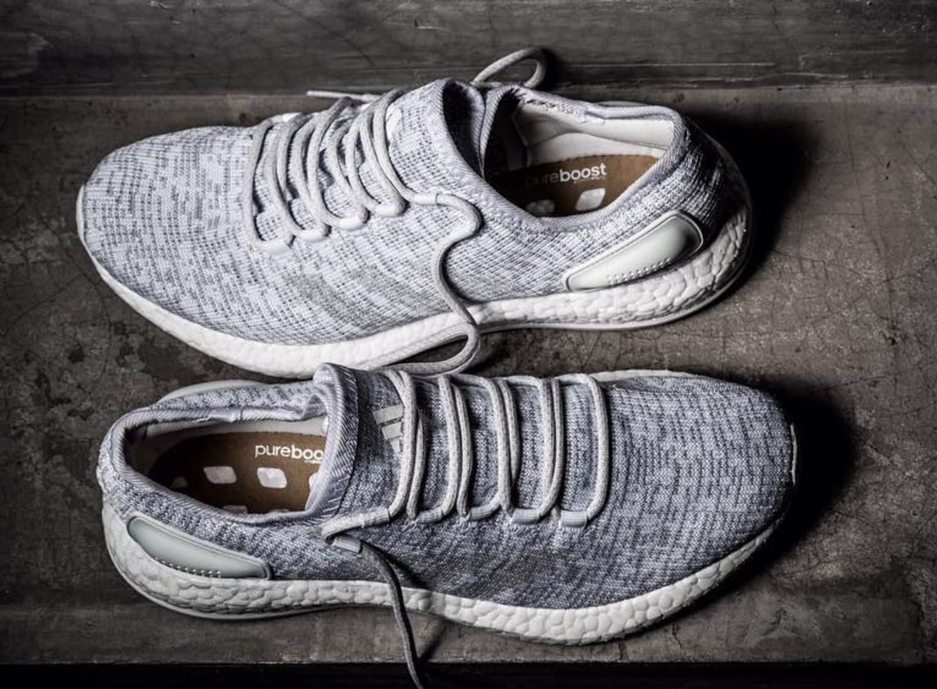 Adidas Primeknit Boost Grey White | Shoes | Adidas pure