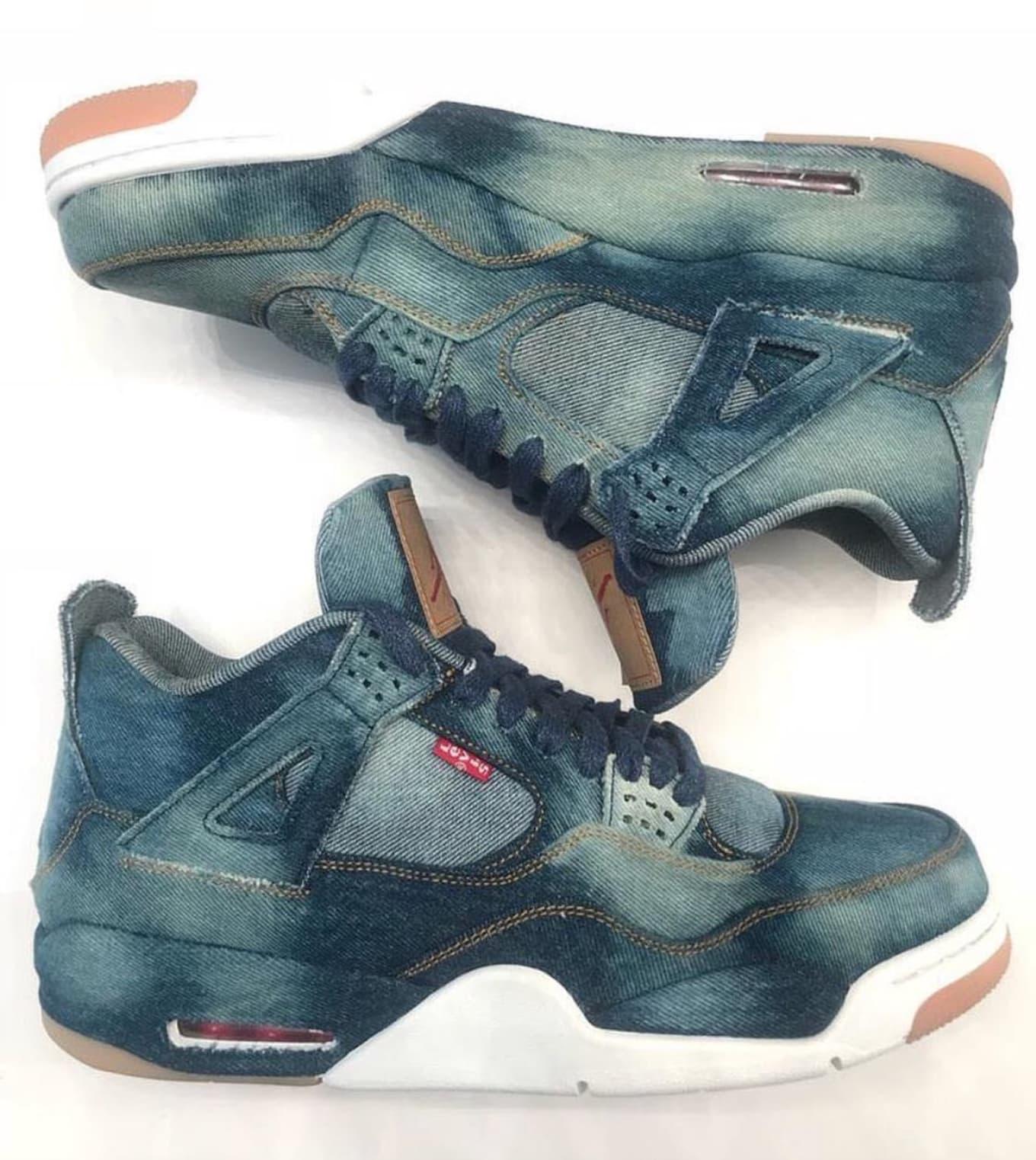 meet 7ed36 d2ede Custom Levi's x Air Jordan 4   Sole Collector