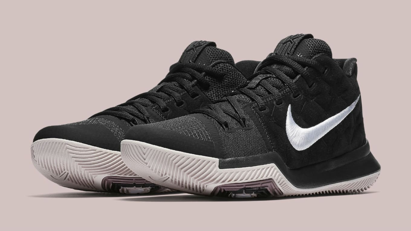 1df8bed8fdc5 Nike Kyrie 3 Black White Silt Red Release Date 852395-010