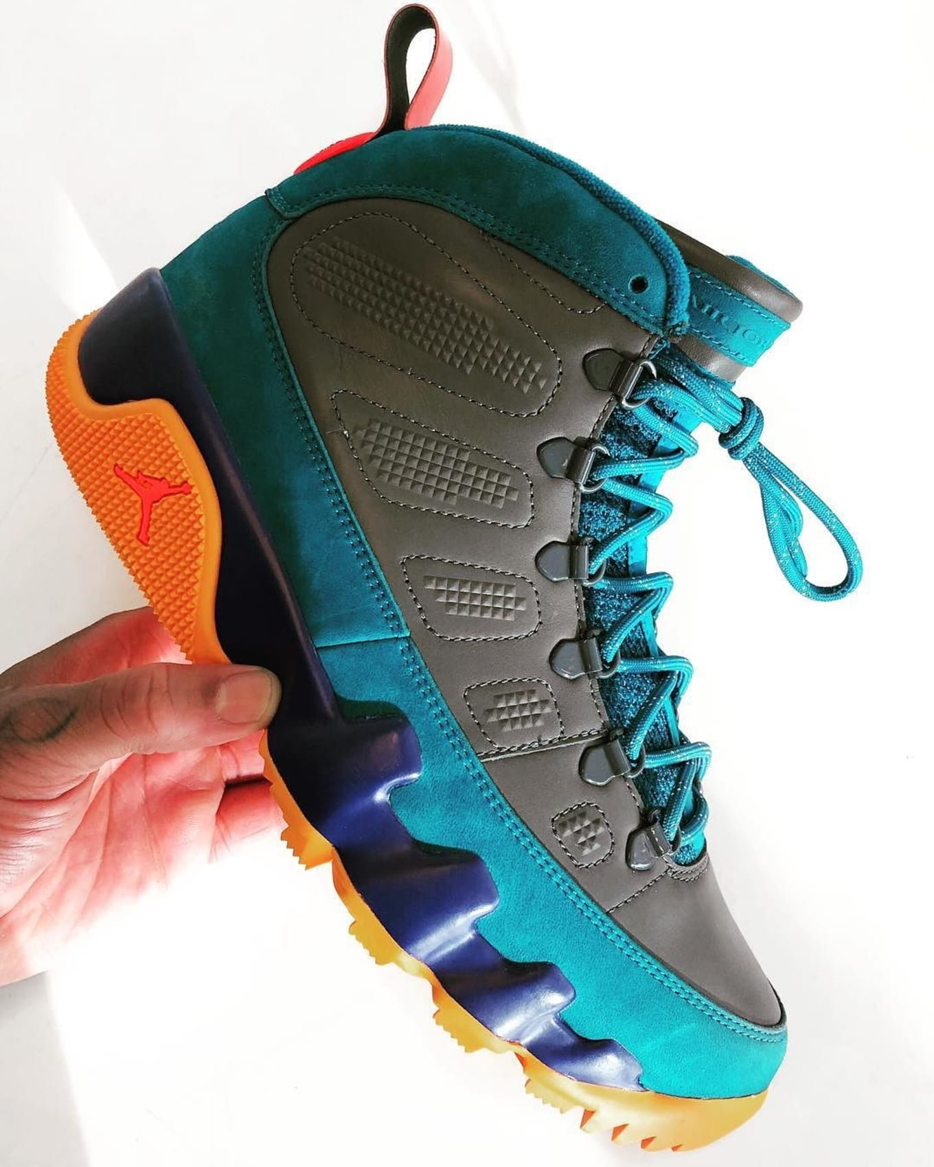 Air Jordan 9 NRG Boot Multicolor Sample  8e4c3386ad