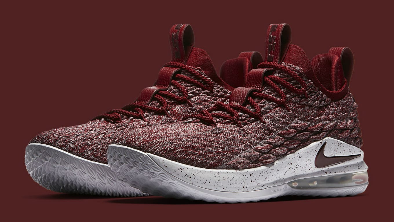734694ee9f721 Nike LeBron 15 Low Taupe Grey Team Red Vast Grey Release Date AO1755 ...