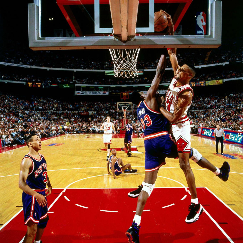 Nike Air More Uptempo Scottie Pippen Patrick Ewing Knicks Dunk ... 96fb391b58