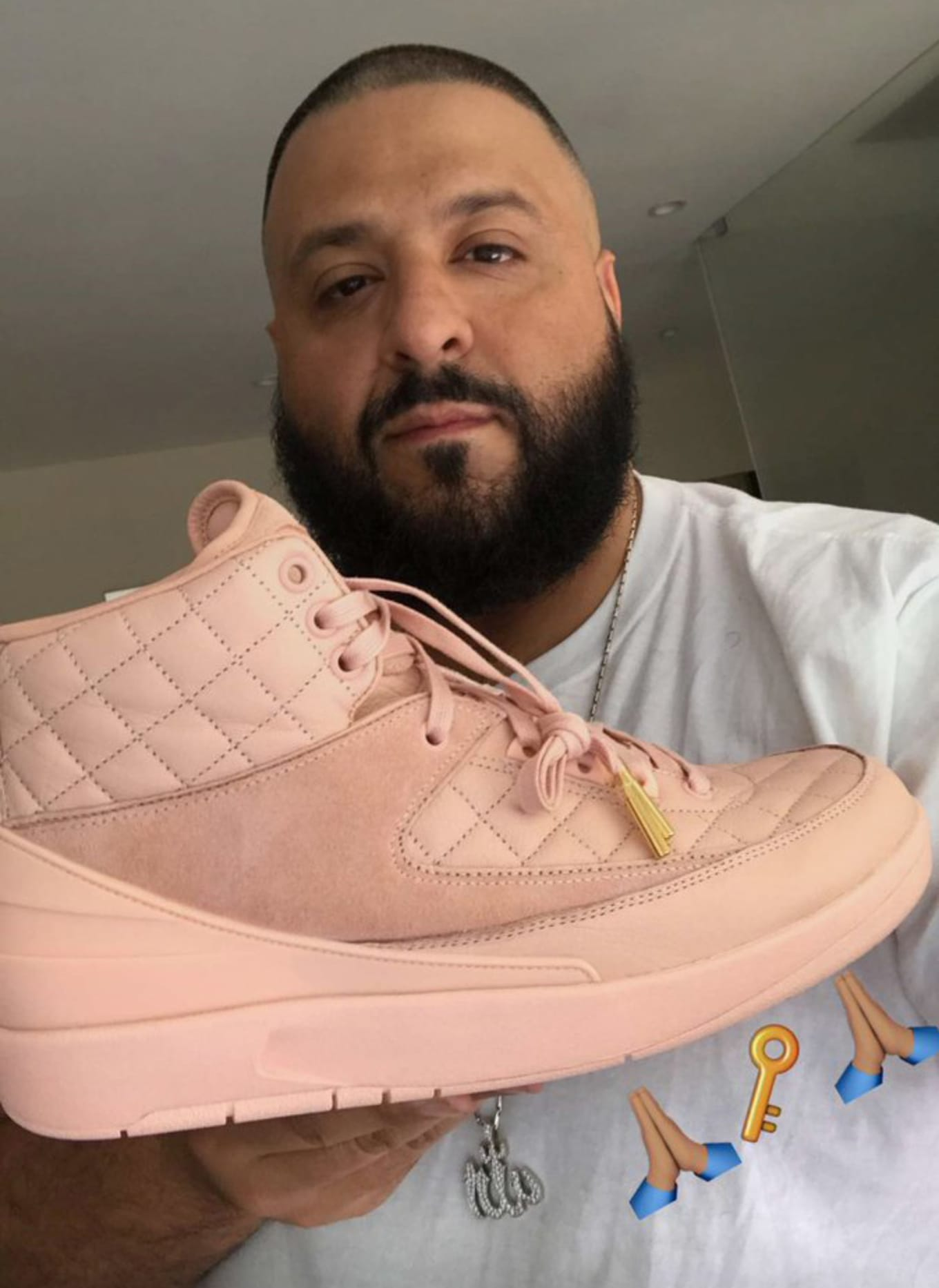 cf6d45404ba6 Pink Just Don x Air Jordan 2s Are Only Releasing in Kids  Sizes. DJ Khaled  explains how he got his size.