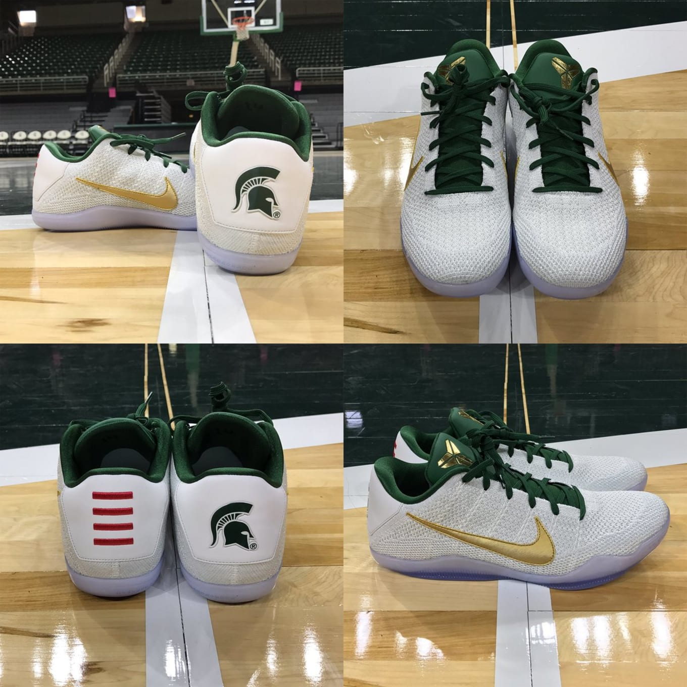 8b44a8e42f2f Michigan State Has Exclusive Kobe and KD Nikes for the New Season. The Kobe  11 and KD 9 in Sparty colors.
