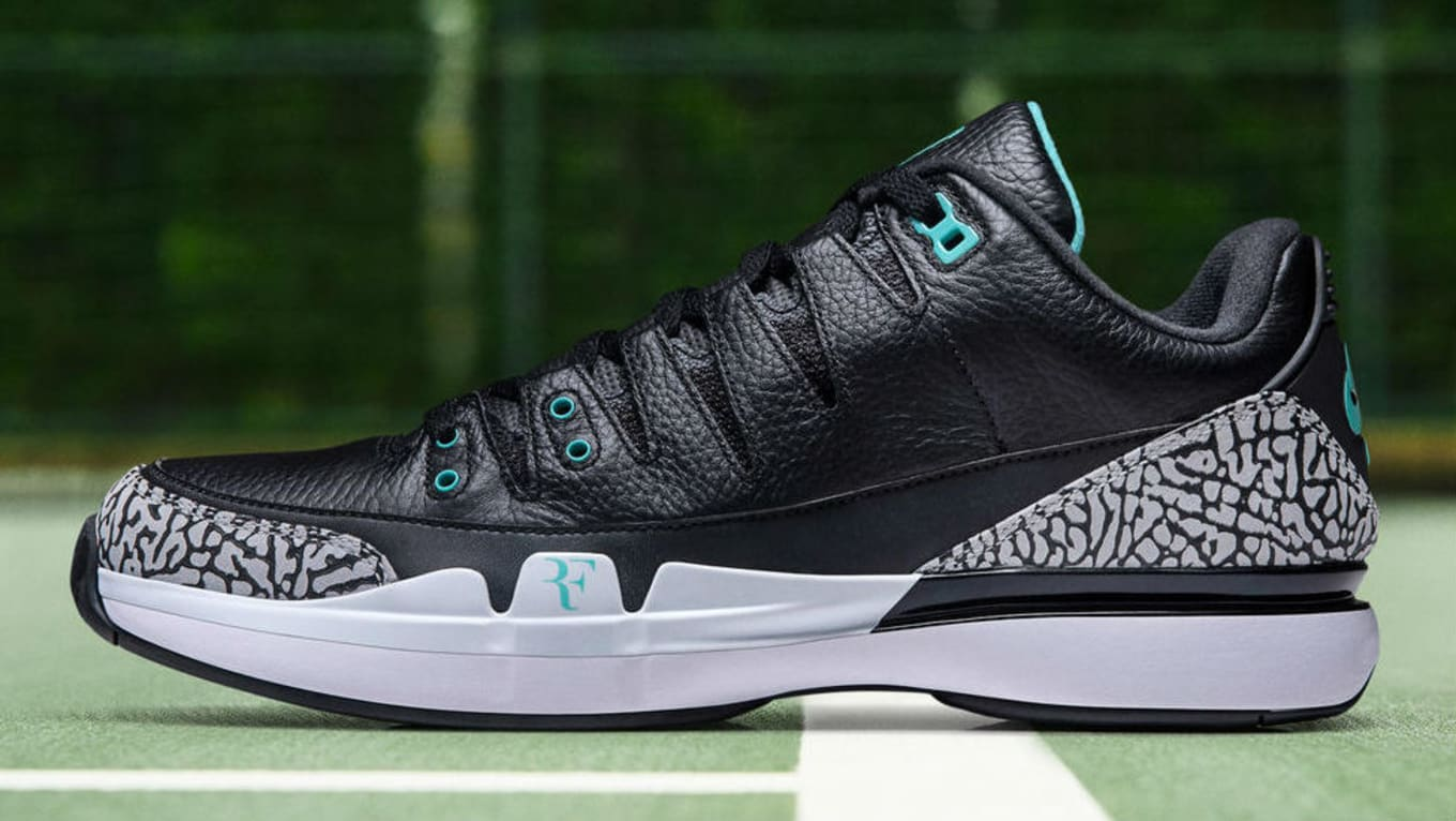 d3bc97df37000 Roger Federer and Michael Jordan Have Another Sneaker Together.  Atmos   Nike Zoom Vapor RF x AJ3 hits retail this week.