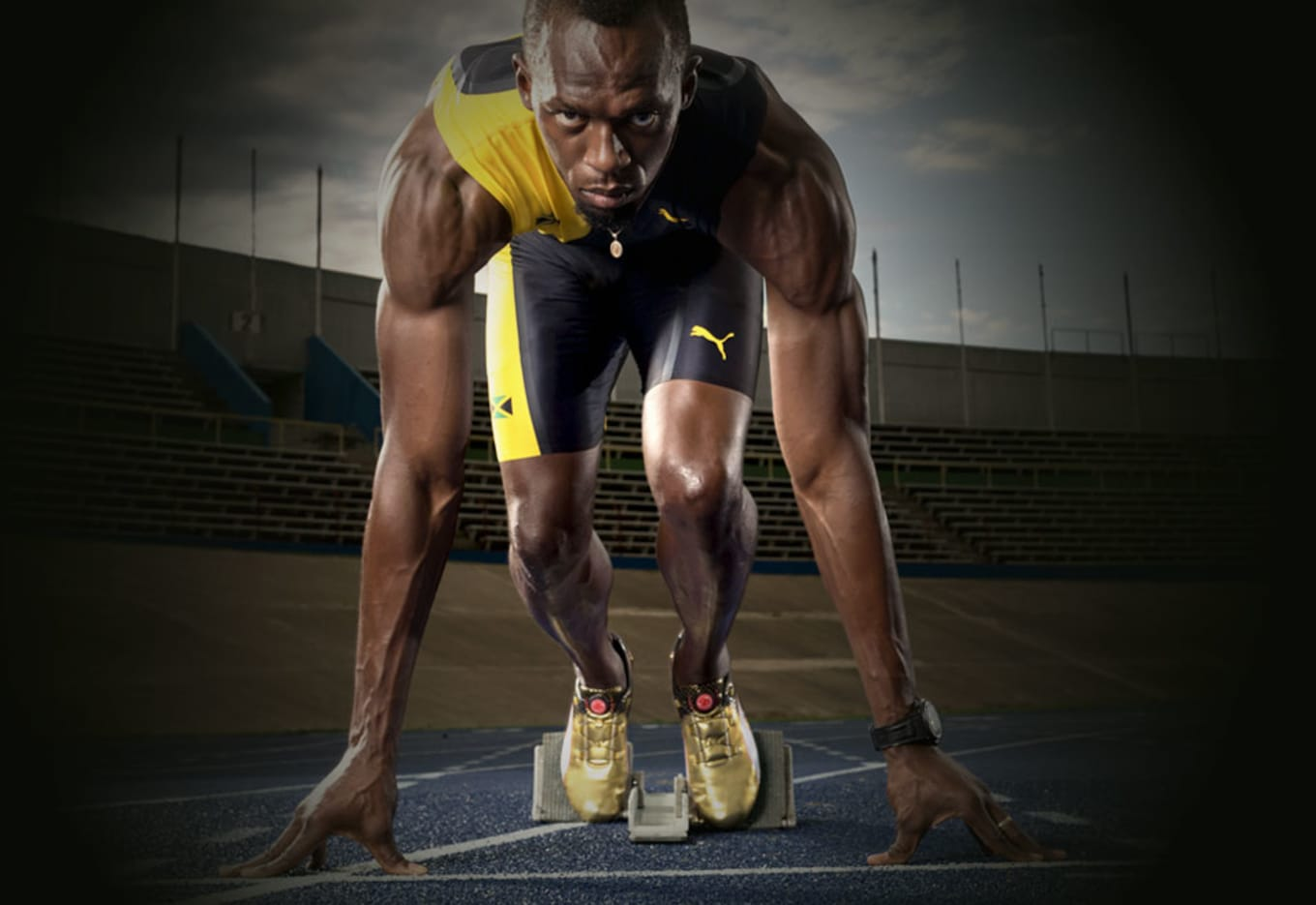 You Can Win a Golden Track Spike Signed by Usain Bolt e02de2d67
