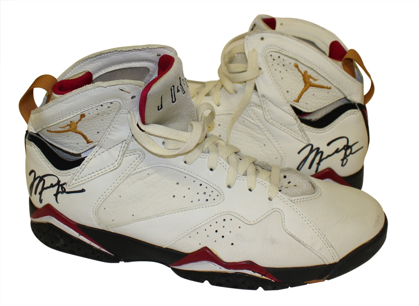 65d2de2d944 Michael Jordan's Game-Worn Air Jordans from 1992 Up for Auction. Former  Gatorade VP parts with dual-signed sneakers.