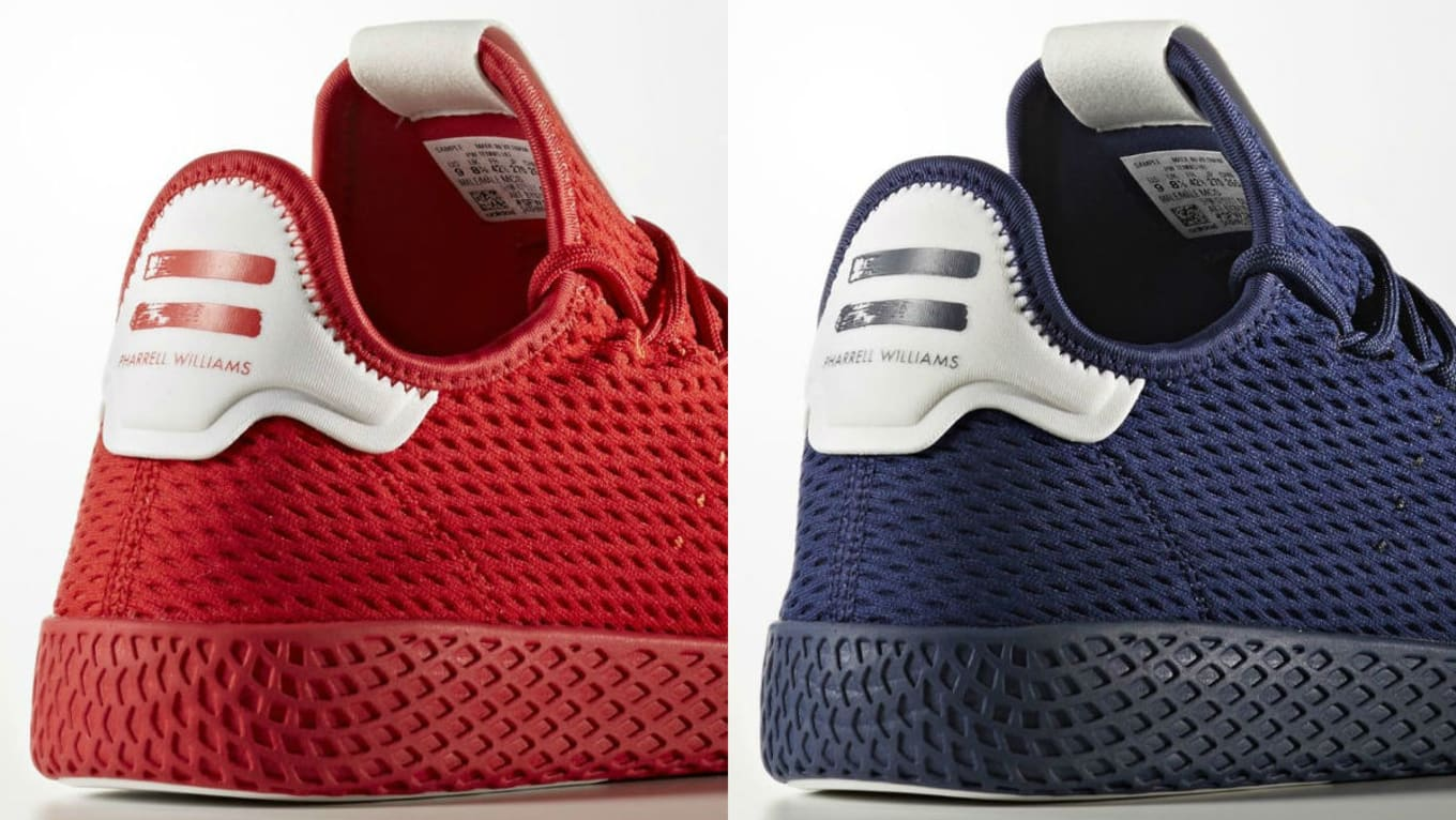 c6ec2d272e606 adidas Originals   Pharrell Williams. Images via Adidas. Sporty renditions  of Pharrell s newly launched Adidas Tennis Hu sneaker ...