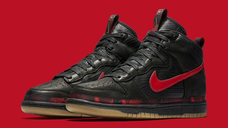 pretty nice 38385 479b0 Nike N7 Dunk High Black Red Release Date AA1126-001 | Sole ...
