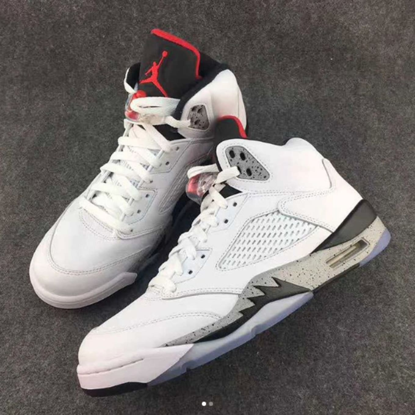 eb2db6035a5a5 First Look at the  White Cement  Air Jordan 5