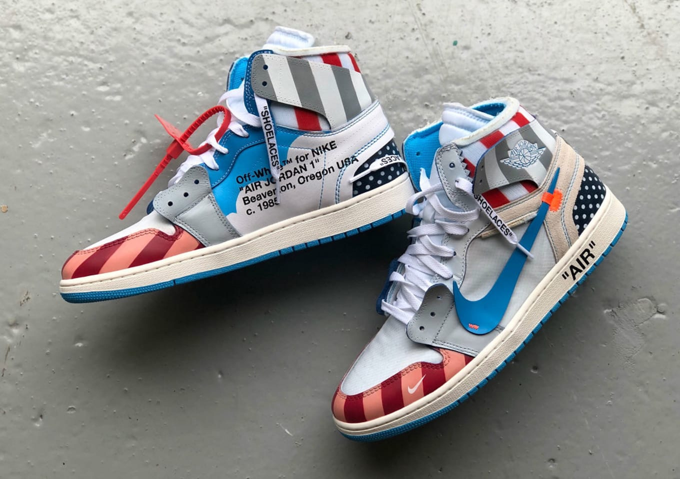 eae7cd8c8aca57 Parra x Off-White x Air Jordan 1 Mache Custom
