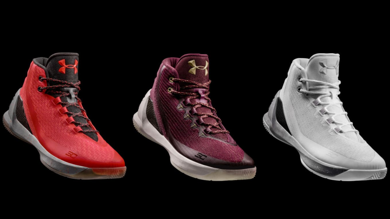 c5492296 Three New Under Armour Curry 3 Colorways Release This Week. Including  Curry's Christmas sneaker.