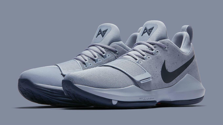 promo code 0cc32 21d11 Nike PG1 Glacier Grey Armory Blue Release Date 878627-044   Sole ...