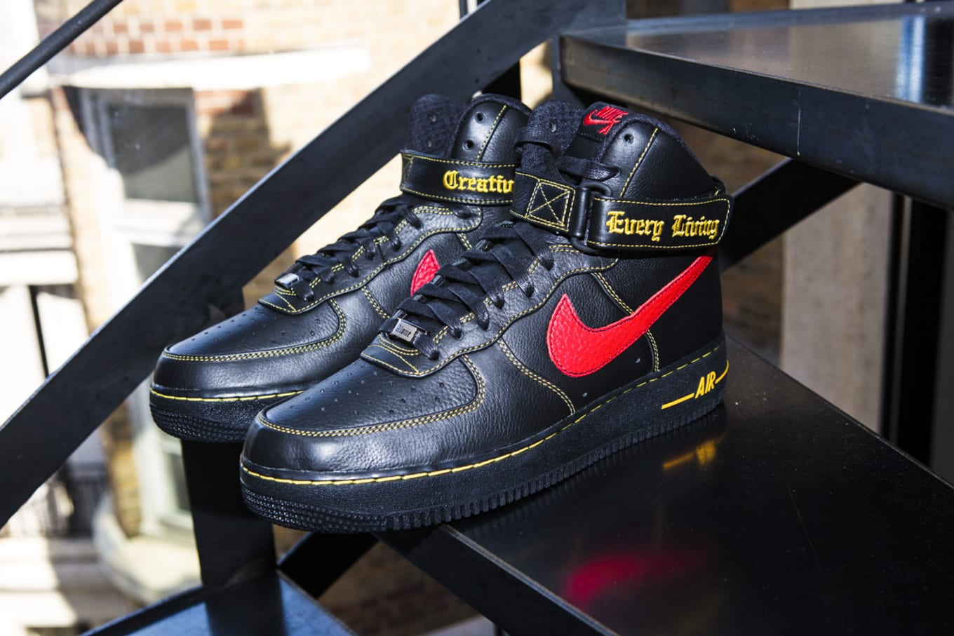 Vlone X Nike Air Force 1 High Black Red Paris Release Sole Collector