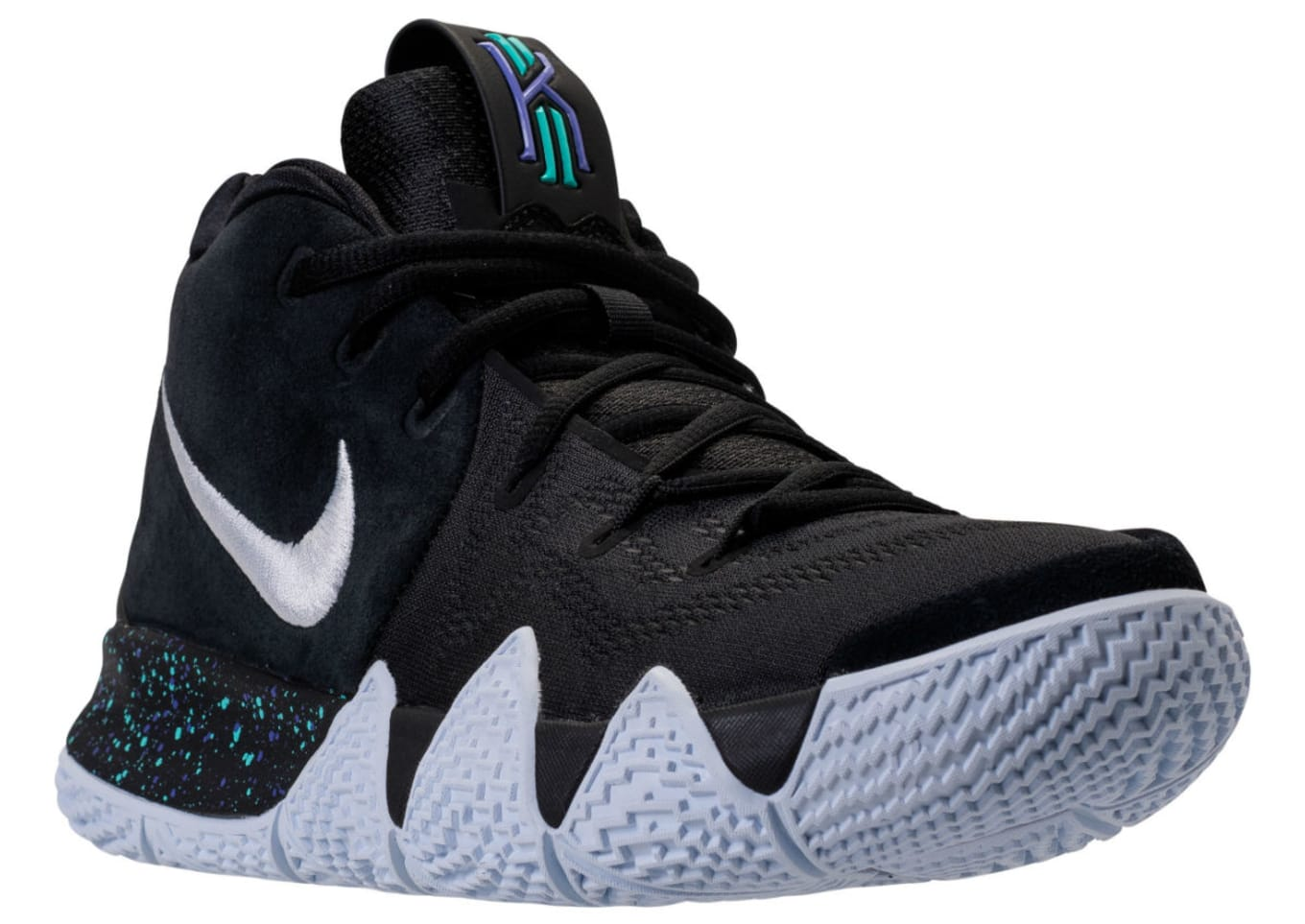new arrival e7fb1 a3ddb Nike Kyrie 4 Black White Release Date 943806-002 | Sole ...