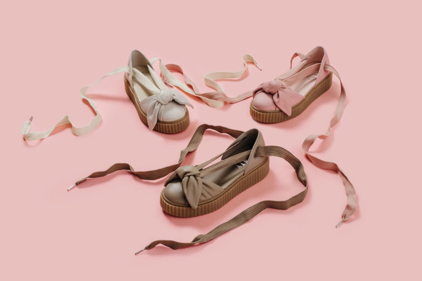 78a7d6be18a2 The Bow Creeper Sandal validates Fenty partnership.