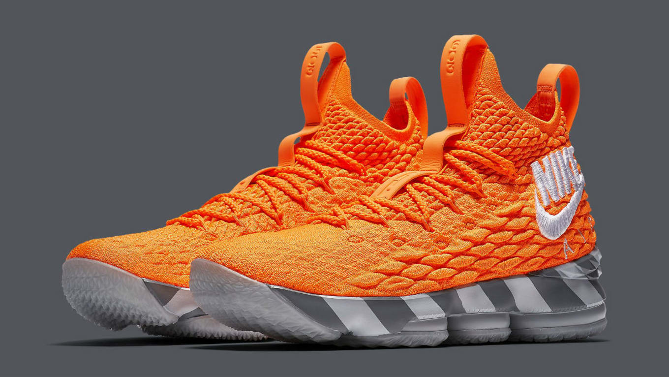 c4c76ffe03df Nike LeBron 15 Nike Box Orange