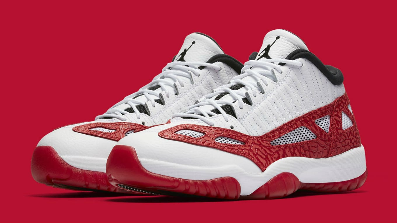 5ceadd277cfe72 Air Jordan 11 XI Low IE White Gym Red Black Release Date 919712-101 ...