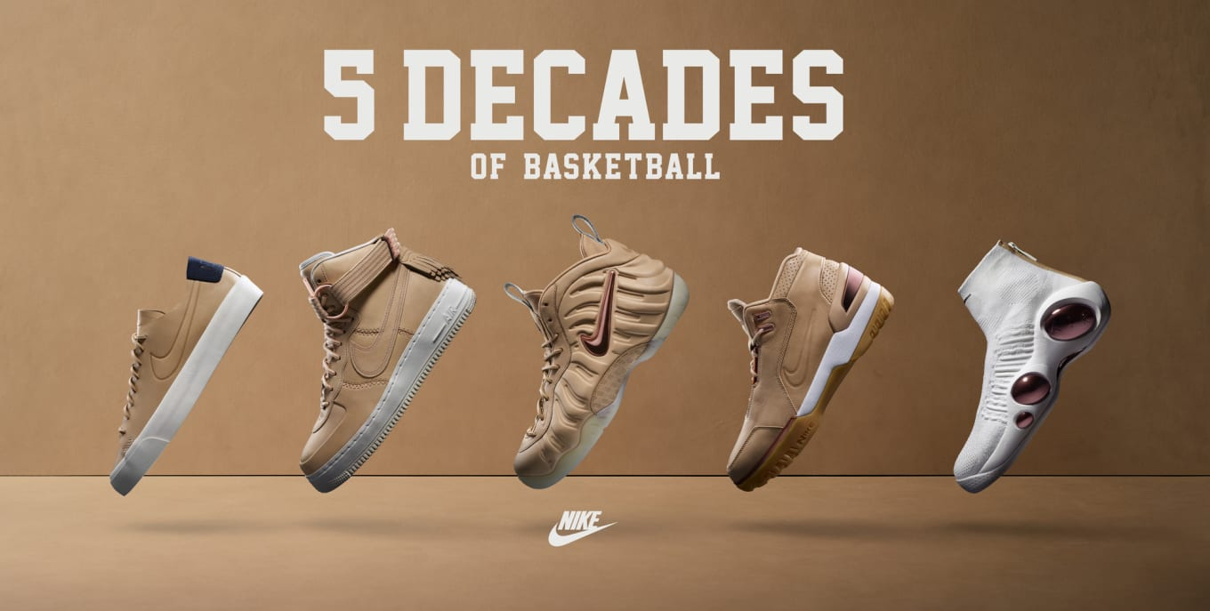 32806fc8624 Release Dates for Nike s Vachetta Tan  5 Decades of Basketball  Pack