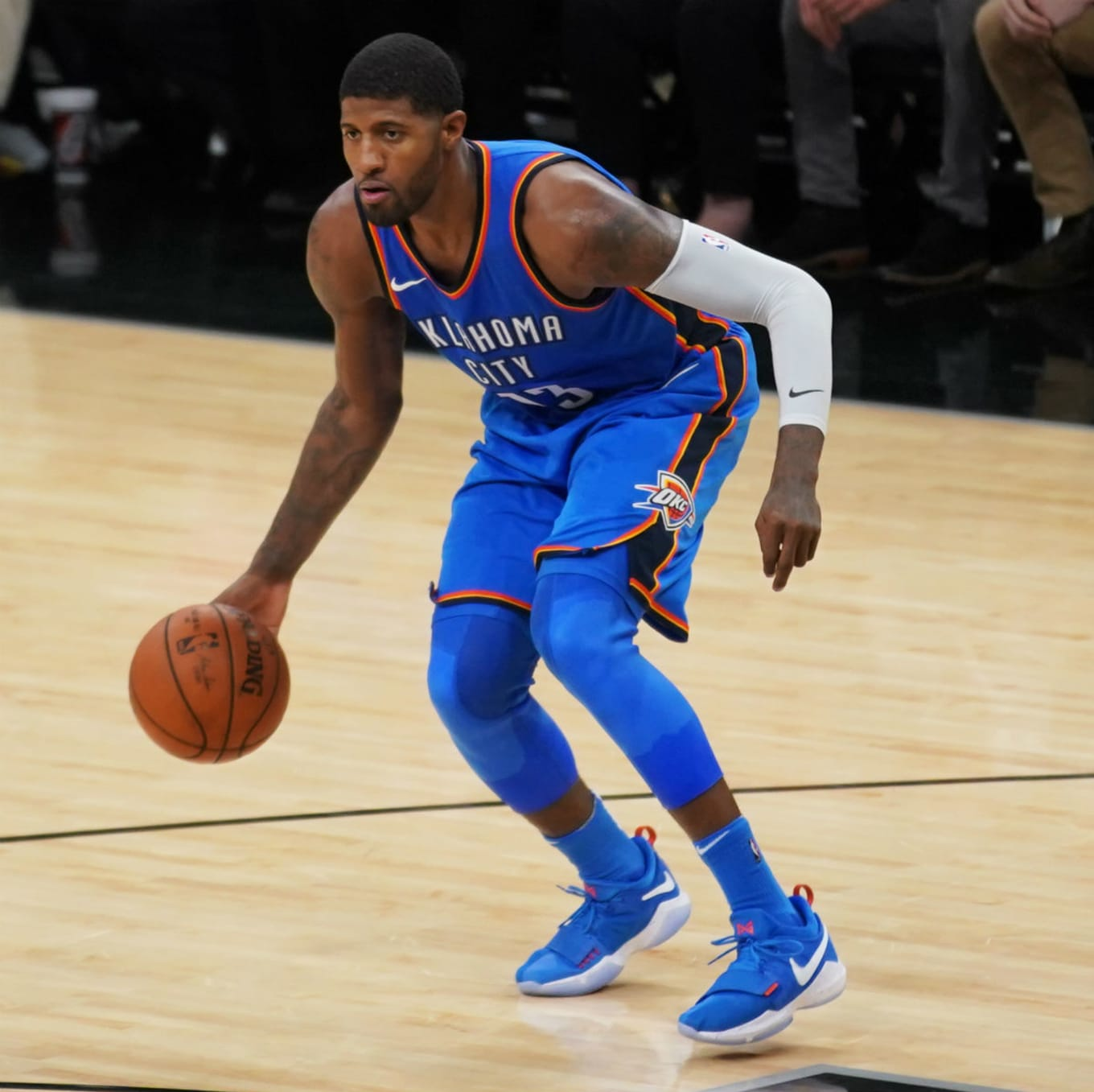 e19ccf6f1ded  SoleWatch  Paul George Breaks Out His Blue Suede Shoes Against the Spurs