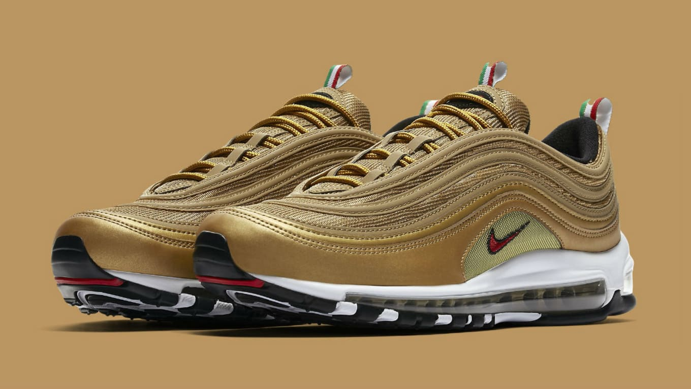 Nike Air Max 97 Italy Flag Gold Release Date AJ8056 700