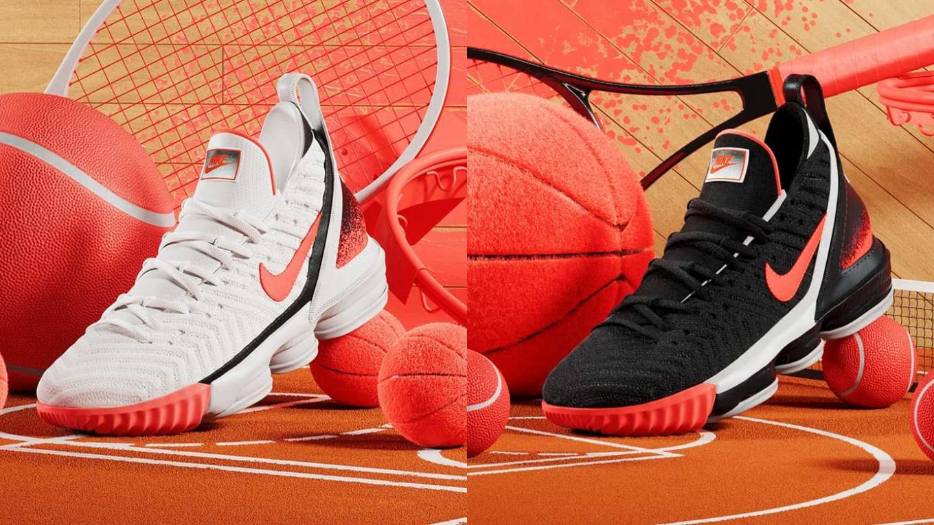 promo code 0d468 19d0e Two contrasting colorways of the  Hot Lava  Nike LeBron 16 are releasing  soon.