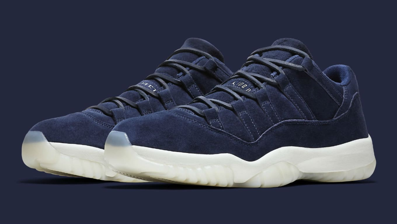 46274fbdd0f Air Jordan 11 XI Low Jeter RE2PECT Release Date AV2187-441 | Sole ...