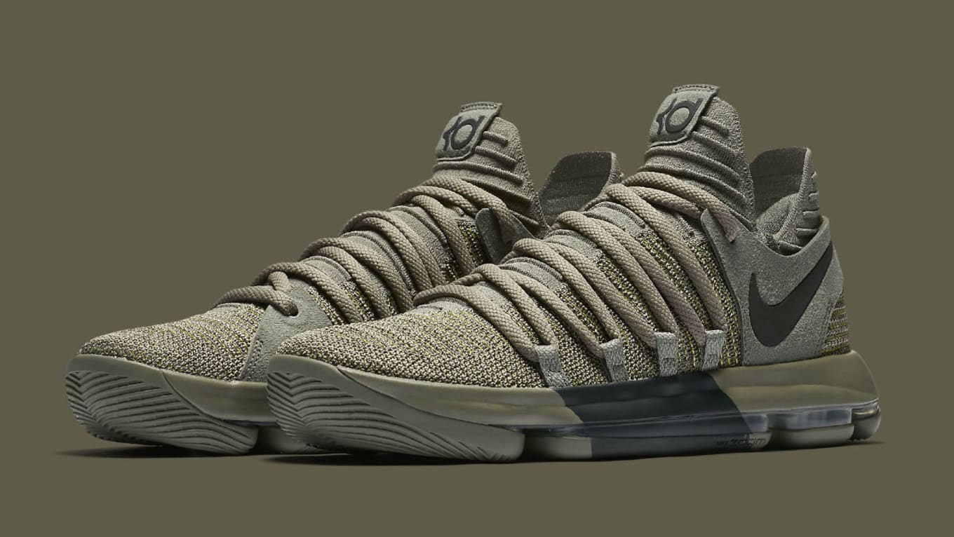 21c26fb3469f5 Nike KD 10 Dark Stucco Veterans Day Release Date 897817-002 | Sole ...