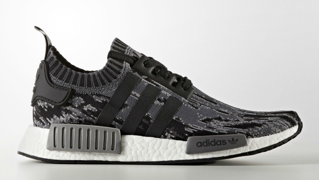 0e81ab40e The Next  Glitch Camo  Adidas NMD to Look Forward To. Black and grey  colorway releasing soon.