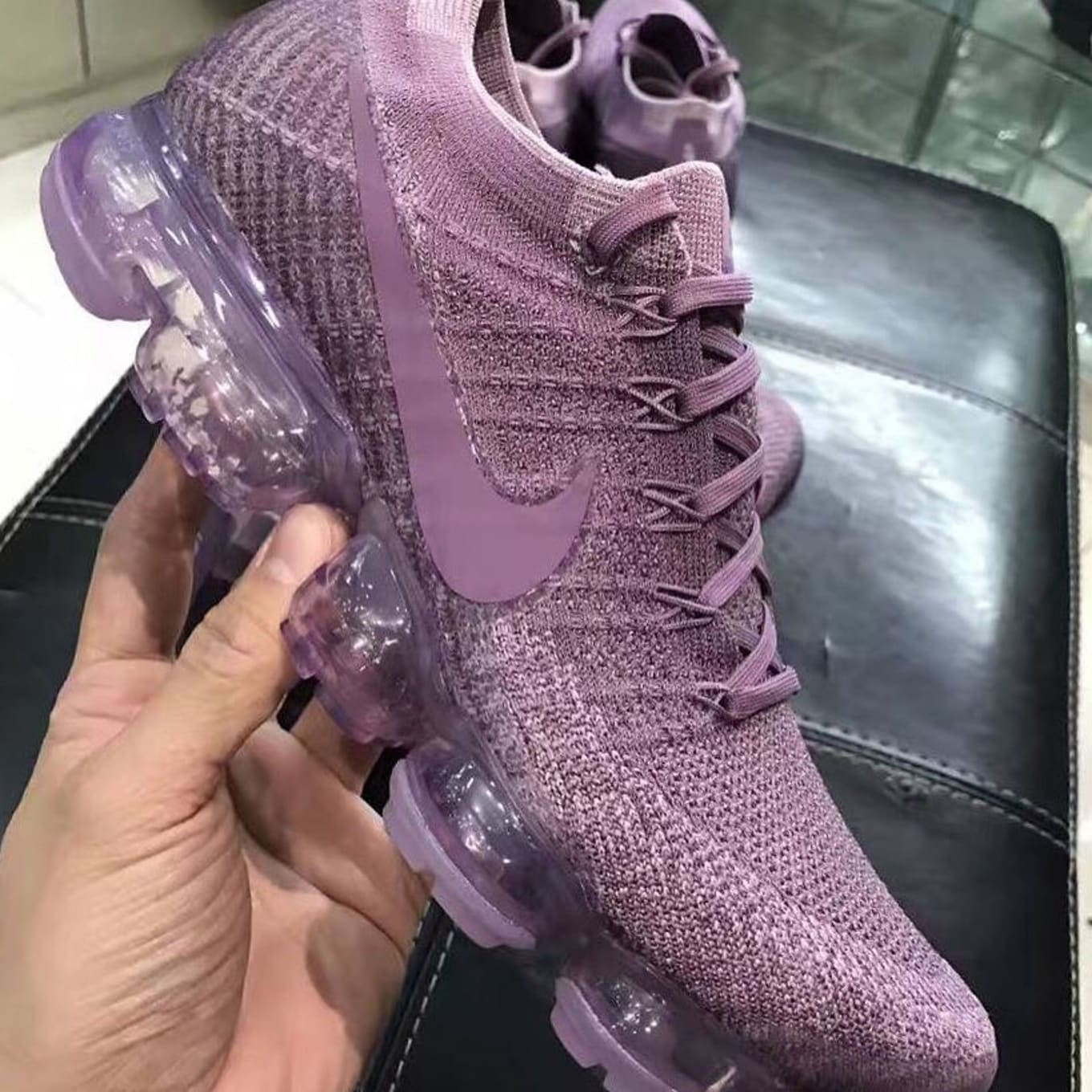 cd86257900c A New Hue for the Nike VaporMax. Purple covers the latest pair to surface.
