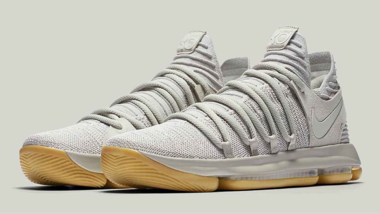 Nike KD 10 Pale Grey Light Bone Gum Release Date 897817-001  c2c6716a0e