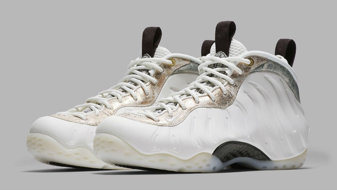 61255cfa953a30 Nike Air Foamposite One Women s Summit White Summit White-Oil  Grey-Rainforest